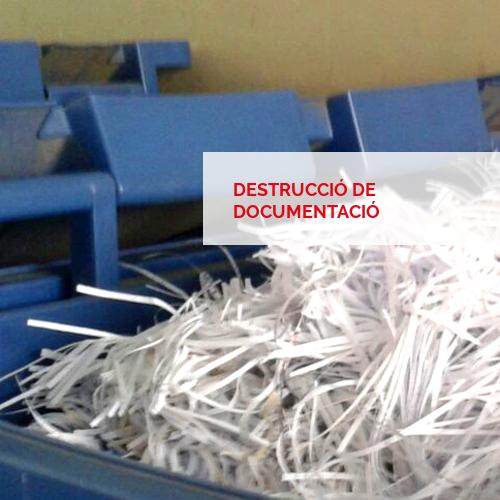 Destrucció de documentació